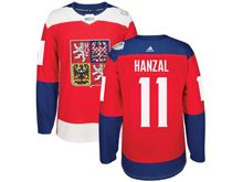 Mens Nhl Team Czech #11 Martin Hanzal Red 2016 World Cup Hockey Jersey