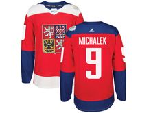 Mens Nhl Team Czech #9 Milan Michalek Red 2016 World Cup Hockey Jersey