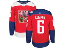 Mens Nhl Team Czech #6 Michal Kempny Red 2016 World Cup Hockey Jersey