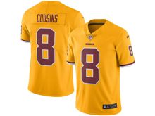Mens   Washington Redskins #8 Kirk Cousins Gold Color Rush Limited Jersey