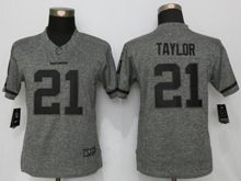 Women   Washington Redskins #21 Sean Taylor Gray Stitched Gridiron Limited Jersey