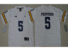 Mens Ncaa Nfl Jordan Brand Michigan Wolverines #5 Jabrill Peppers White Limited Jersey