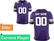 Mens Minnesota Vikings Purple Elite Current Player Jersey