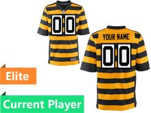 Mens Pittsburgh Steelers Yellow Stripe Elite Current Player Jersey