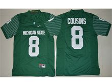 Mens Ncaa Nfl Michigan State Spartans #8 Kirk Cousins Green Limited Jersey