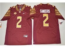 Mens Ncaa Nfl Florida State Seminoles #2 Deion Sanders Red Limited Jersey
