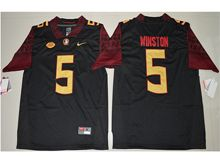 Mens Ncaa Nfl Florida State Seminoles #5 Jameis Winston Black Limited Jersey