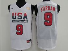 Mens Nba 1 Dream Teams #9 Michael Jordan White Jersey