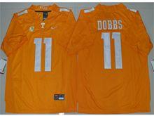 Mens Ncaa Nfl Tennessee Volunteers #11 Joshua Dobbs Orange Limited Jersey