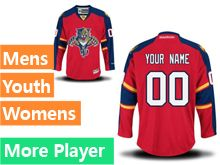 Mens Women Youth Reebok Florida Panthers Red Home Premier Current Player Jersey