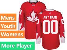 Mens Adidas Team Canada Red 2016 World Cup Hockey Jersey