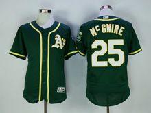 Mens Majestic Mlb Oakland Athletics #25 Mcgwire Green Flex Base Jersey