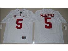 Mens Ncaa Nfl Stanford Cardinal #5 Christian Mccaffrey White Jersey