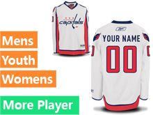 Mens Women Youth Reebok Washington Capitals White Away Premier Current Player Jersey