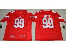 Mens Ncaa Nfl Wisconsin Badgers #99 J. J. Watt Red Limited Jersey