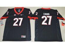Youth Ncaa Nfl Georgia Bulldogs #27 Nick Chubb Black Limited Jersey