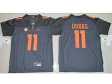 Youth Ncaa Nfl Tennessee Volunteers #11 Joshua Dobbs Black Limited Jersey