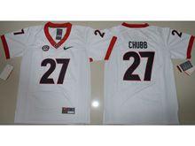 Youth Ncaa Nfl Georgia Bulldogs #27 Nick Chubb White Limited Jersey