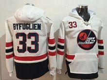 Mens Reebok Winnipeg Jets #33 Dustin Byfuglien White Hoodie