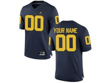 Ncaa Nfl Jordan Brand Michigan Wolverines (custom Made) Navy Blue Limited Jersey