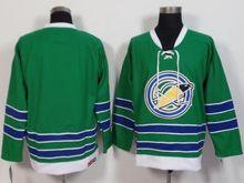 Mens Ccm Oakland Seals Blank Green Throwback Jersey