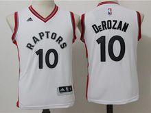 Youth Nba Toronto Raptors #10 Demar Derozan White Jersey