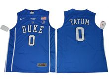 Mens Ncaa Nba Duke Blue Devils #0 Jayson Tatum Blue (2017 V Neck) Jersey