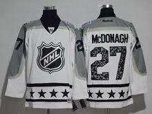Mens Reebok New York Rangers #27 Ryan Mcdonagh White 2017 All Star Hockey Jersey