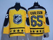 Mens Reebok Ottawa Senators #65 Erik Karlsson Yellow 2017 All Star Hockey Jersey