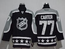 Mens Reebok Los Angeles Kings #77 Jeff Carter Black 2017 All Star Hockey Jersey