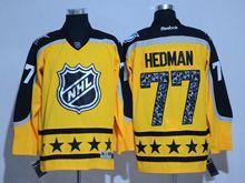 Mens Reebok Tampa Bay Lightning #77 Victor Hedman Yellow 2017 All Star Hockey Jersey