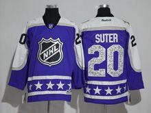 Mens Reebok Minnesota Wild #20 Ryan Suter Purple 2017 All Star Hockey Jersey
