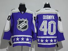 Mens Reebok Minnesota Wild #40 Devan Dubnyk Purple 2017 All Star Hockey Jersey