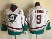 Youth Nhl Anaheim Mighty Ducks #9 Kariya White Ccm Vintage Jersey