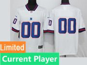Mens Women Youth Nfl New York Giants White Color Rush Limited Current Player Jersey