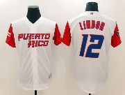 Mens Mlb Puerto Rico Team 2017 Baseball World Cup #12 Lindor White Jersey