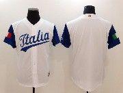 Mens Mlb Jtalia Team 2017 Baseball World Cup White Blank Jersey