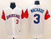 Mens Mlb Dominicana Team 2017 Baseball World Cup #3 Machado White Jersey