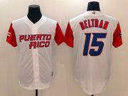 Mens Mlb Puerto Rico Team 2017 Baseball World Cup #15 Beltran White Jersey