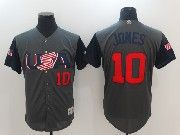 Mens Mlb Usa Team 2017 Baseball World Cup #10 Jones Grey Jersey