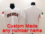 Mens Mlb Mexico Team 2017 Baseball World Cup Custom Made White Jersey