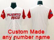 Mens Mlb Puerto Rico Team 2017 Baseball World Cup Custom Made White Jersey