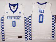 Mens Ncaa Nba Kentucky Wildcats #0 De'aaron Fox White College Basketball Jersey