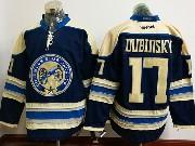 Mens Reebok Nhl Columbus Blue Jackets #17 Brandon Dubinsky Blue Alternate Premier Jersey