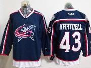 Mens Reebok Nhl Columbus Blue Jackets #43 Scott Hartnell Blue Home Premier Jersey