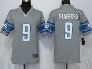 Mens Nfl Detroit Lions #9 Matthew Stafford Steel 2017 Color Rush Limited Grey Jersey