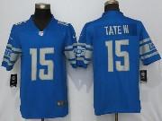 Mens Nfl Detroit Lions #15 Golden Tate 2017 Vapor Untouchable Limited Blue Jersey