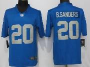 Mens Nfl Detroit Lions #20 Barry Sanders 2017 Throwback Vapor Untouchable Limited Blue Jersey