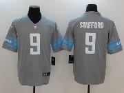 Mens Nfl Detroit Lions #9 Matthew Stafford Grey Vapor Untouchable Limited Jersey