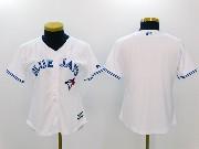 Women Mlb Toronto Blue Jays Blank White Cool Base Jersey